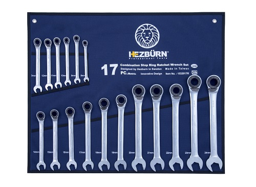 Combination-Stop-Ring-Ratchet-Wrench-Set-17Pcs--